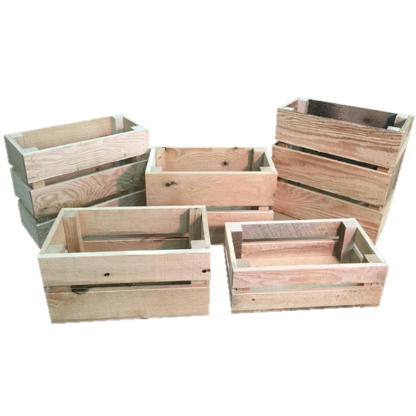 mini wooden crates north rustic design