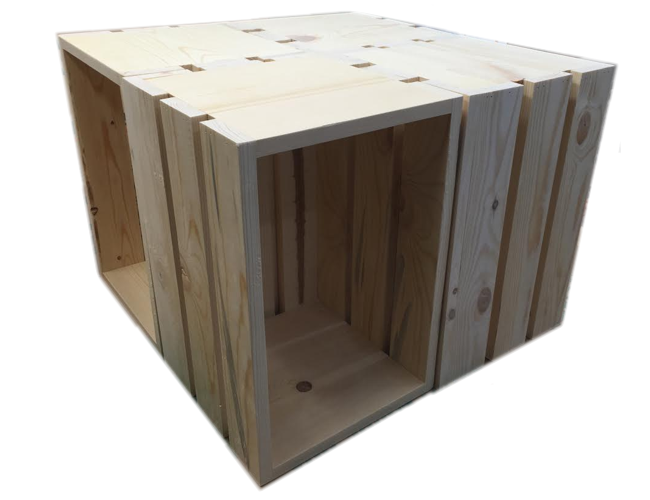 Wood crate coffee tables north rustic design for Wood crate coffee table