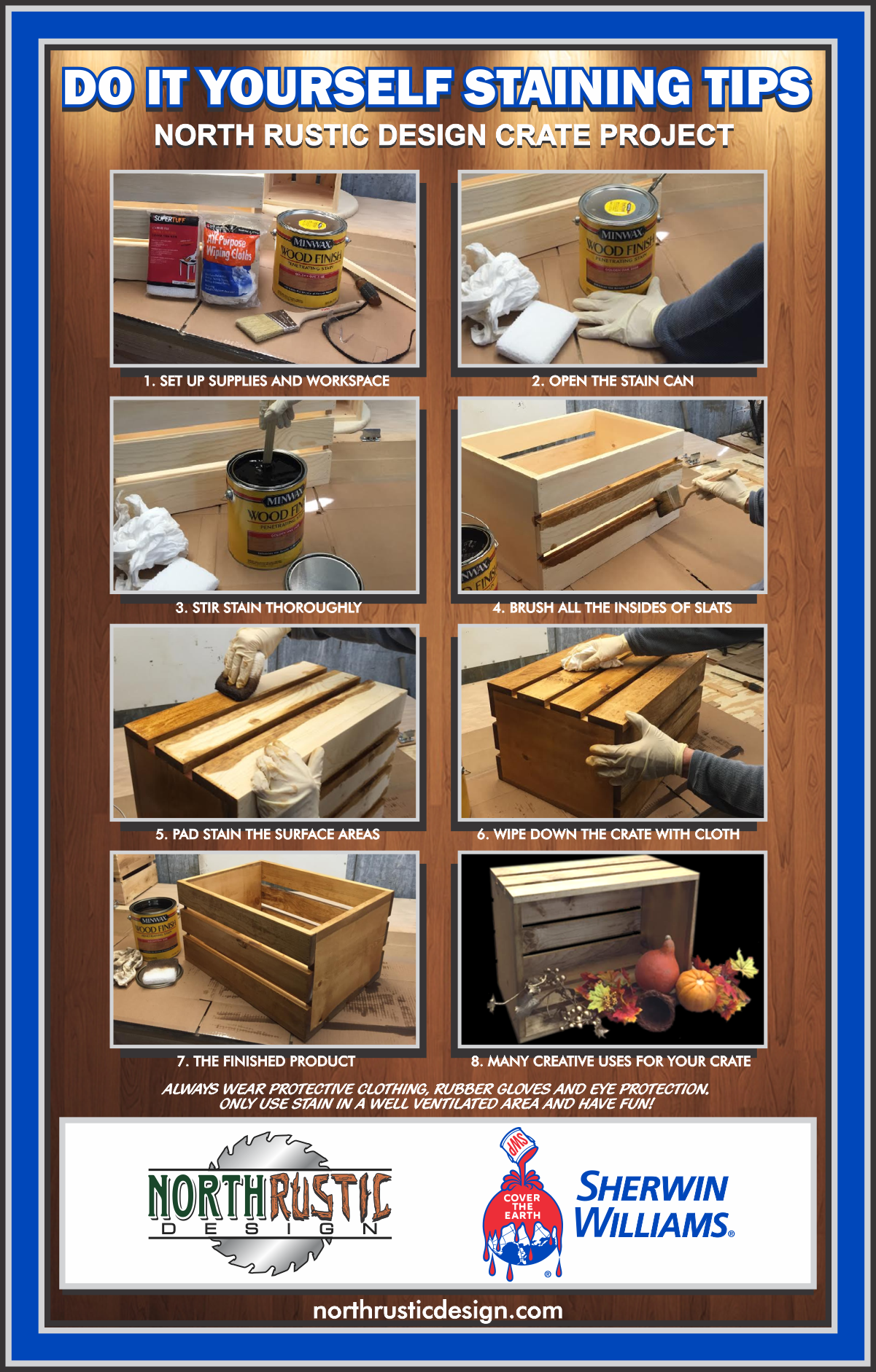 How To Stain A Wooden Crate North Rustic Design