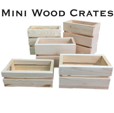 Mini Wooden Crates North Rustic Design